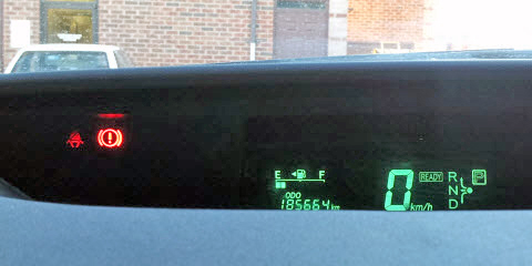 2004 Prius Odometer Reading at Delivery - Dash View