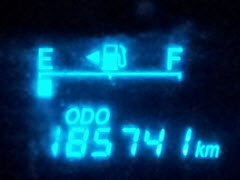 My Prius Odometer Reading 4 days after delivery - 185,741 Km